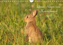 Kevin Andreas Lederle: Unsere Hasen - und Kaninchenwelt (Wandkalender 2022 DIN A4 quer), Kalender