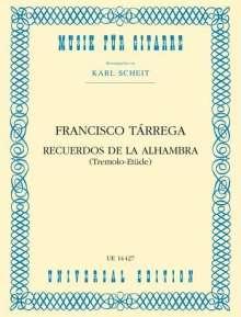 Recuerdos de la Alhambra, Buch