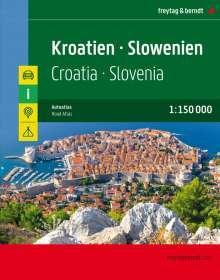 Kroatien - Slowenien, Autoatlas 1:150.000, Buch