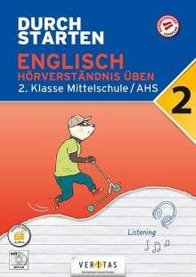 Nicole Eisinger-Müllner: Durchstarten 2. Klasse - Englisch Mittelschule/AHS - Hörverständnis, Buch