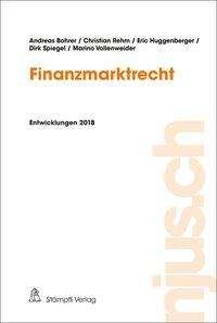 Andreas Bohrer: Finanzmarktrecht, Buch