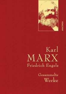 Karl Marx: Karl Marx / Friedrich Engels - Gesammelte Werke (Leinenausg. mit goldener Schmuckprägung), Buch