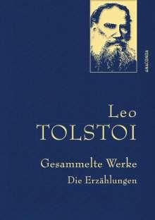 Leo N. Tolstoi: Leo Tolstoi - Gesammelte Werke. Die Erzählungen (Leinenausg. mit goldener Schmuckprägung), Buch