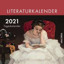 Jan Strümpel: Der Anaconda Literatur-Kalender 2021 - Tageskalender, Kalender