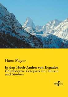 Hans Meyer: In den Hoch-Anden von Ecuador, Buch