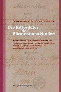 Ernst Albrecht Friedrich Culemann: Die Rittergüter des Fürstentums Minden, Buch