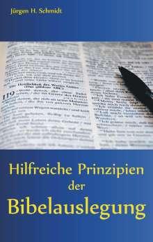 Jürgen H. Schmidt: Hilfreiche Prinzipien der Bibelauslegung, Buch