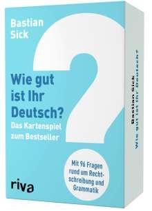 Bastian Sick: Wie gut ist Ihr Deutsch? - Das Kartenspiel zum Bestseller, Diverse