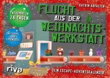 Katrin Abfalter: Flucht aus der Weihnachtswerkstatt. Dein Escape-Adventskalender, Buch