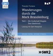 Theodor Fontane: Wanderungen durch die Mark Brandenburg - Teil I, MP3-CD