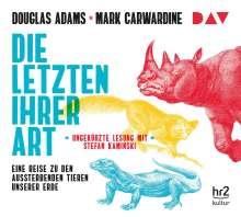 Douglas Adams: Die Letzten ihrer Art. Eine Reise zu den aussterbenden Tieren unserer Erde, 6 CDs