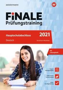 Andrea Heinrichs: FiNALE Prüfungstraining 2021 Hauptschulabschluss Nordrhein-Westfalen. Deutsch, 1 Buch und 1 Diverse