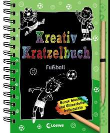 Kreativ-Kratzelbuch: Fußball, Buch