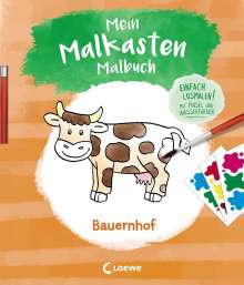 Mein Malkasten-Malbuch - Bauernhof, Buch