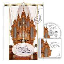 Orgeln 2021 Kalender mit CD, Kalender