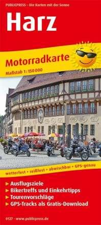 Motorradkarte Harz 1:150 000, Diverse