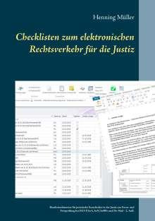Henning Müller: Checklisten zum elektronischen Rechtsverkehr für die Justiz, Buch