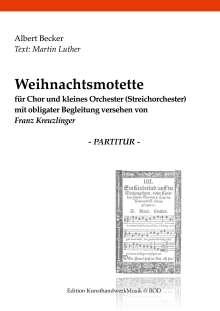 Albert Becker: Weihnachtsmotette, Buch