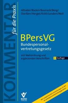 Lothar Altvater: Bundespersonalvertetungsgesetz, Buch