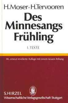 Des Minnesangs Frühling I. Texte, Buch