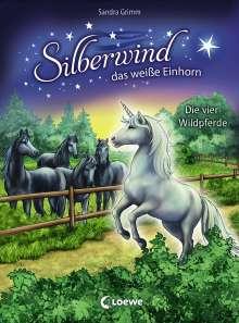 Sandra Grimm: Silberwind, das weiße Einhorn - Die vier Wildpferde, Buch