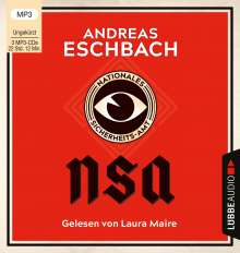 Andreas Eschbach: NSA - Nationales Sicherheits-Amt, 3 MP3-CDs