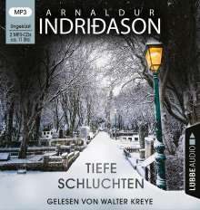 Arnaldur Indriðason: Tiefe Schluchten, 2 MP3-CDs