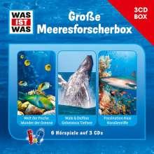Was ist was Hörspielbox: Meeresforscher-Box, 3 CDs