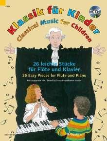 Klassik für Kinder. Flöte und Klavier, Noten