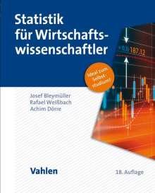 Josef Bleymüller: Statistik für Wirtschaftswissenschaftler, Buch