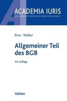 Hans Brox: Allgemeiner Teil des BGB, Buch