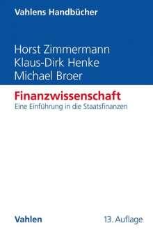 Horst Zimmermann: Finanzwissenschaft, Buch