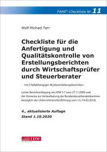 Wolf-Michael Farr: Checkliste 11 (Erstellungsberichte), Buch