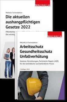 Walhalla Fachredaktion: Kombi-Paket Die aktuellen aushangpflichtigen Gesetze + Arbeitsschutz, Gesundheitsschutz, Unfallverhütung 2021, Buch