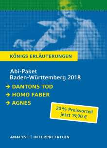 Georg Büchner: Abi-Paket Baden-Württemberg 2014: Dantons Tod / Homo faber / Agnes, Buch