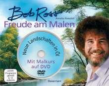 Bob Ross: Freude am Malen-Set. Neue Landschaften in Öl. Ein Malkurs in Buch und auf DVD, Buch