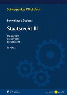 Hans-Georg Dederer: Staatsrecht III, Buch