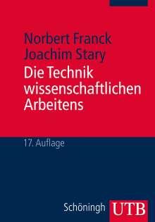 Norbert Franck: Die Technik wissenschaftlichen Arbeitens, Buch