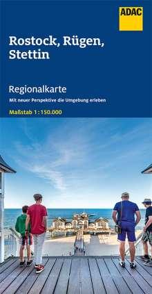 ADAC Regionalkarte Deutschland Blatt 3 Rostock, Rügen, Stettin 1:150 000, Diverse