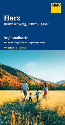 ADAC Regionalkarte Blatt 8  Harz, Braunschweig, Erfurt, Kassel 1:150 000, Diverse
