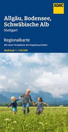 ADAC Regionalkarte Blatt 15 Allgäu, Bodensee, Schwäbische Alp, Stuttgart 1:150 000, Diverse