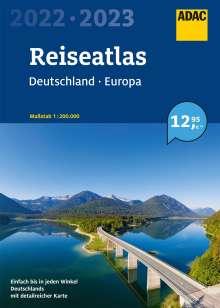 ADAC ReiseAtlas 2022/2023 Deutschland 1:200 000, Europa 1:4 500 000, Buch