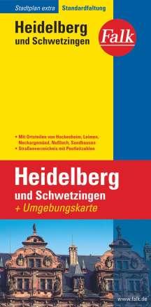 Falk Stadtplan Extra Standardfaltung Heidelberg und Schwetzingen mit Ortsteilen, Diverse