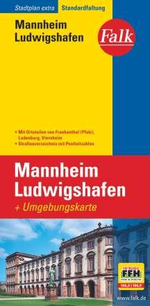 Falk Stadtplan Extra Standardfaltung Mannheim / Ludwigshafen, Diverse