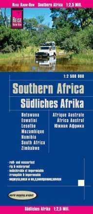 Reise Know-How Landkarte Southern Africa / Südliches Afrika 1 : 2 500 000, Diverse