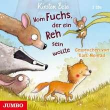 Kirsten Boie: Vom Fuchs, der ein Reh sein wollte, 3 CDs
