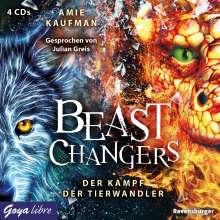 Amie Kaufman: Beast Changers. Der Kampf der Tierwandler, 4 CDs