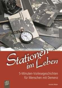 Annette Weber: Stationen im Leben, Buch