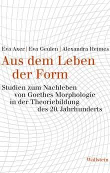 Eva Axer: Aus dem Leben der Form, Buch