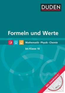 Formeln und Werte  - Formelsammlung bis Klasse 10, Buch